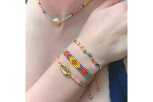 Shine 5 Row Multicolour Beaded Bracelet