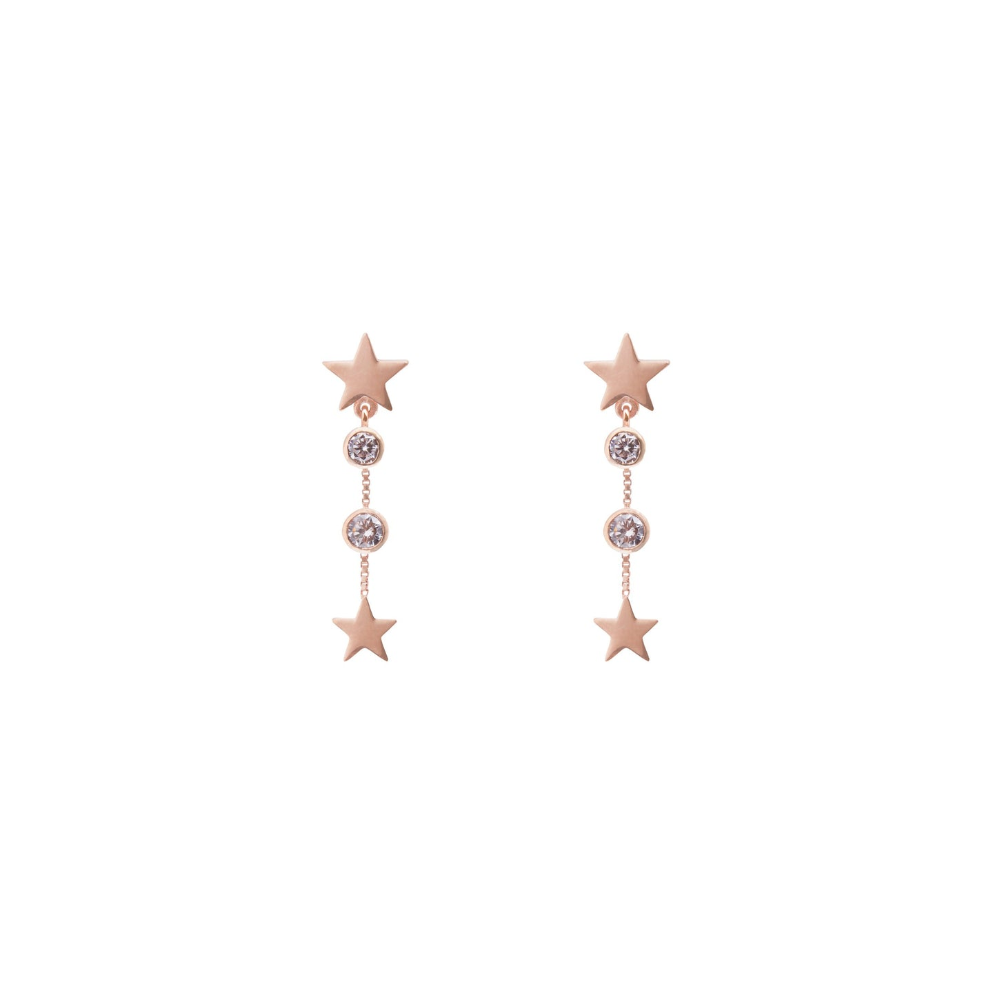 Lucky Star Earring in Rose Gold with Zirconia