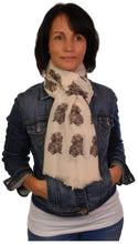 Load image into Gallery viewer, Long Haired Dachshund Scarf - Mike Sibley Dachshund design Ladies Fashion Scarf – Hand Printed in the UK