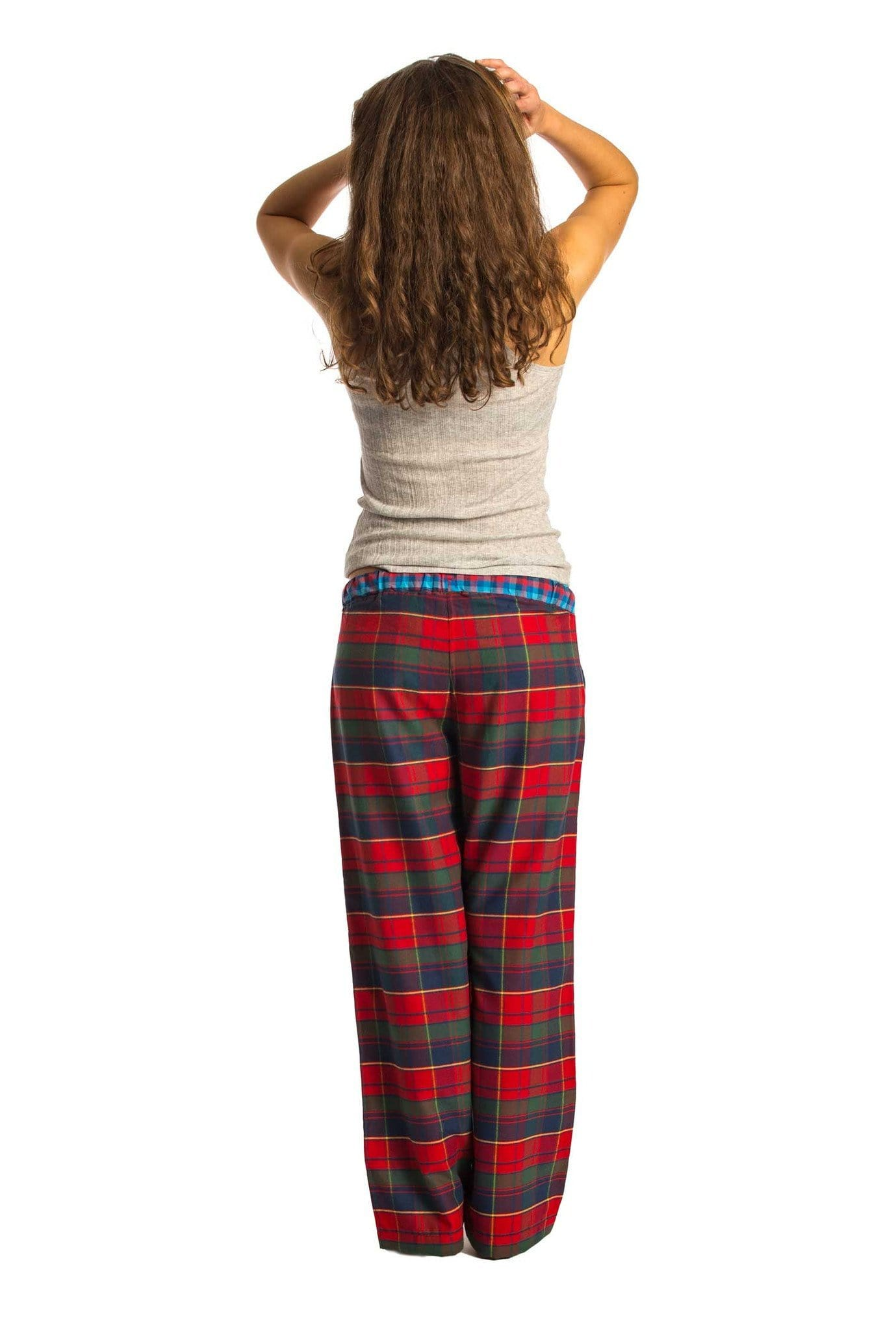 Wylye red and blue check lounge pants - Women's