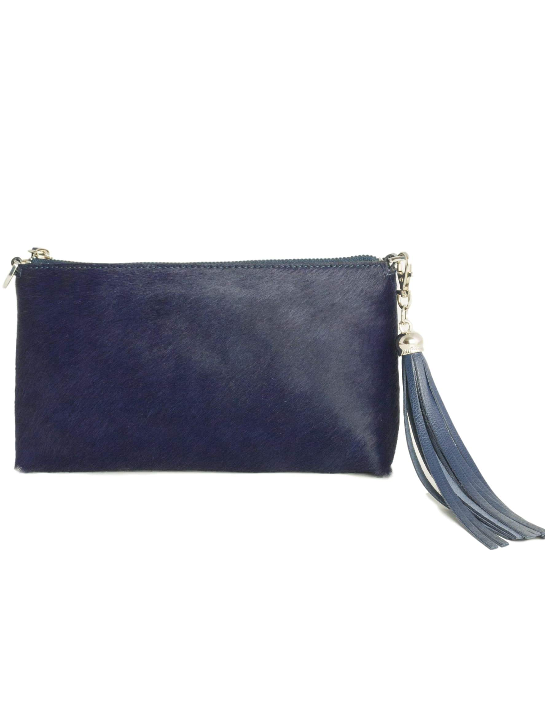 Clutch bag - Navy Furry Forget Me Not