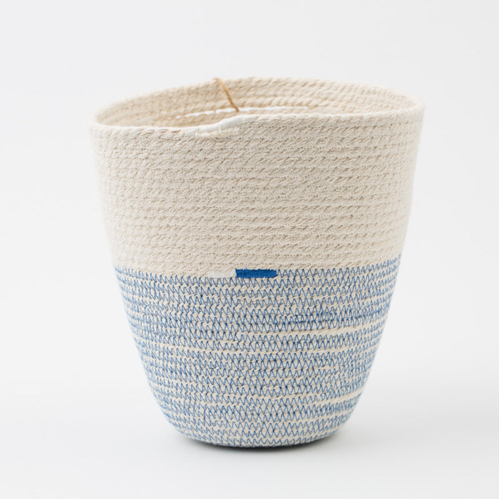 Cotton Cord Blue & White Basket