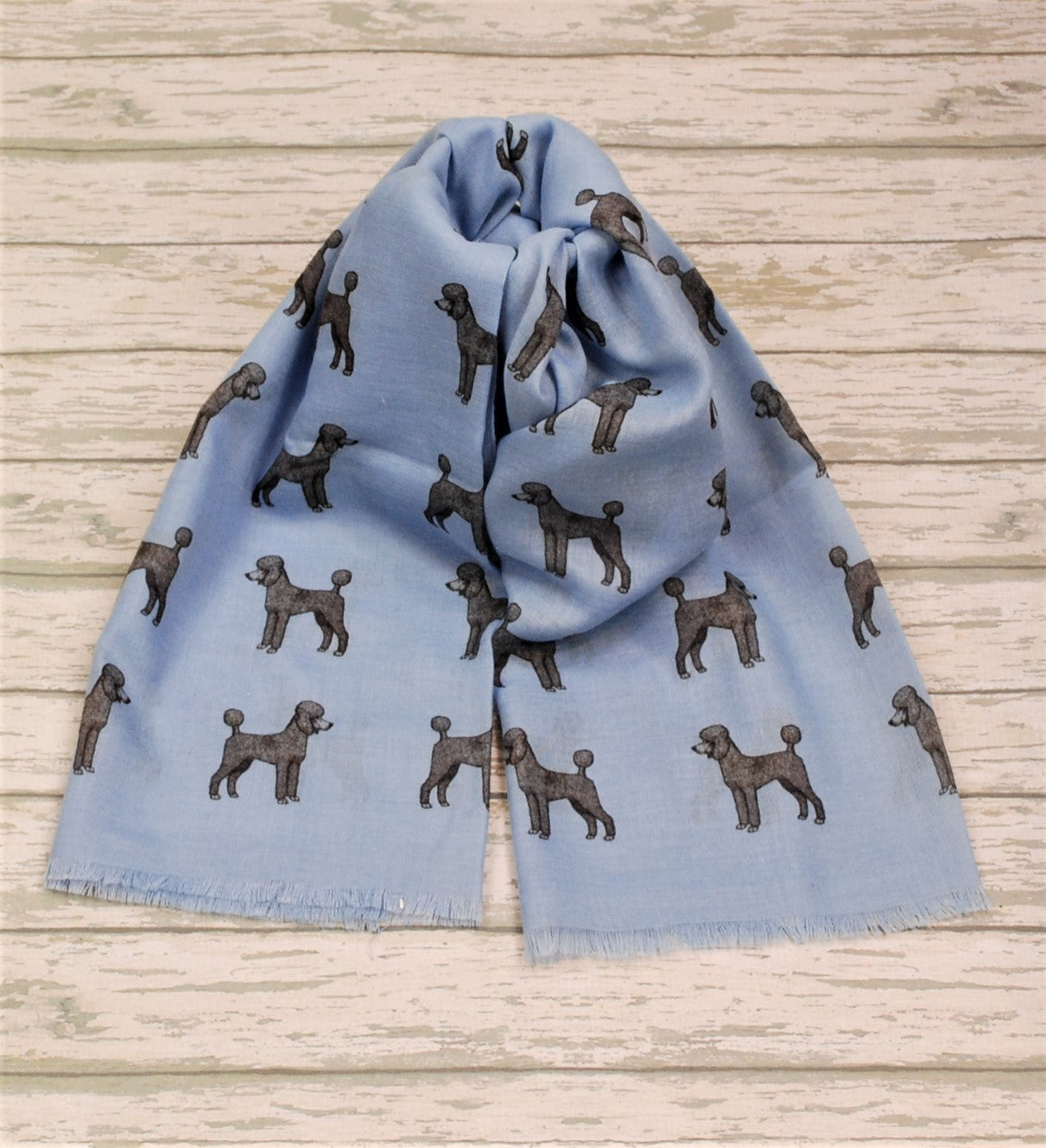 Poodle scarf hand printed in the UK