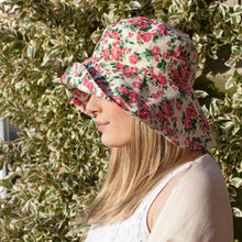 Load image into Gallery viewer, Large Brim Cotton Floral Hat