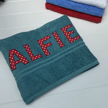 Load image into Gallery viewer, Green Lettered Towels