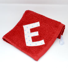 Load image into Gallery viewer, Red Lettered Towels