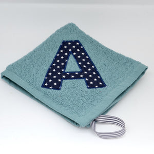 Green Face Cloth with Initial