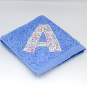Blue Face Cloths with an Initial