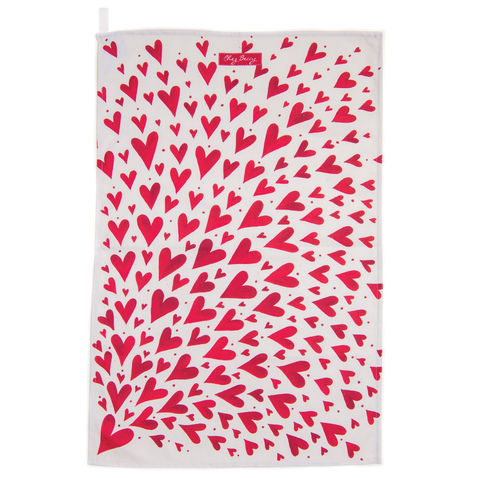Red Shooting Hearts Apron