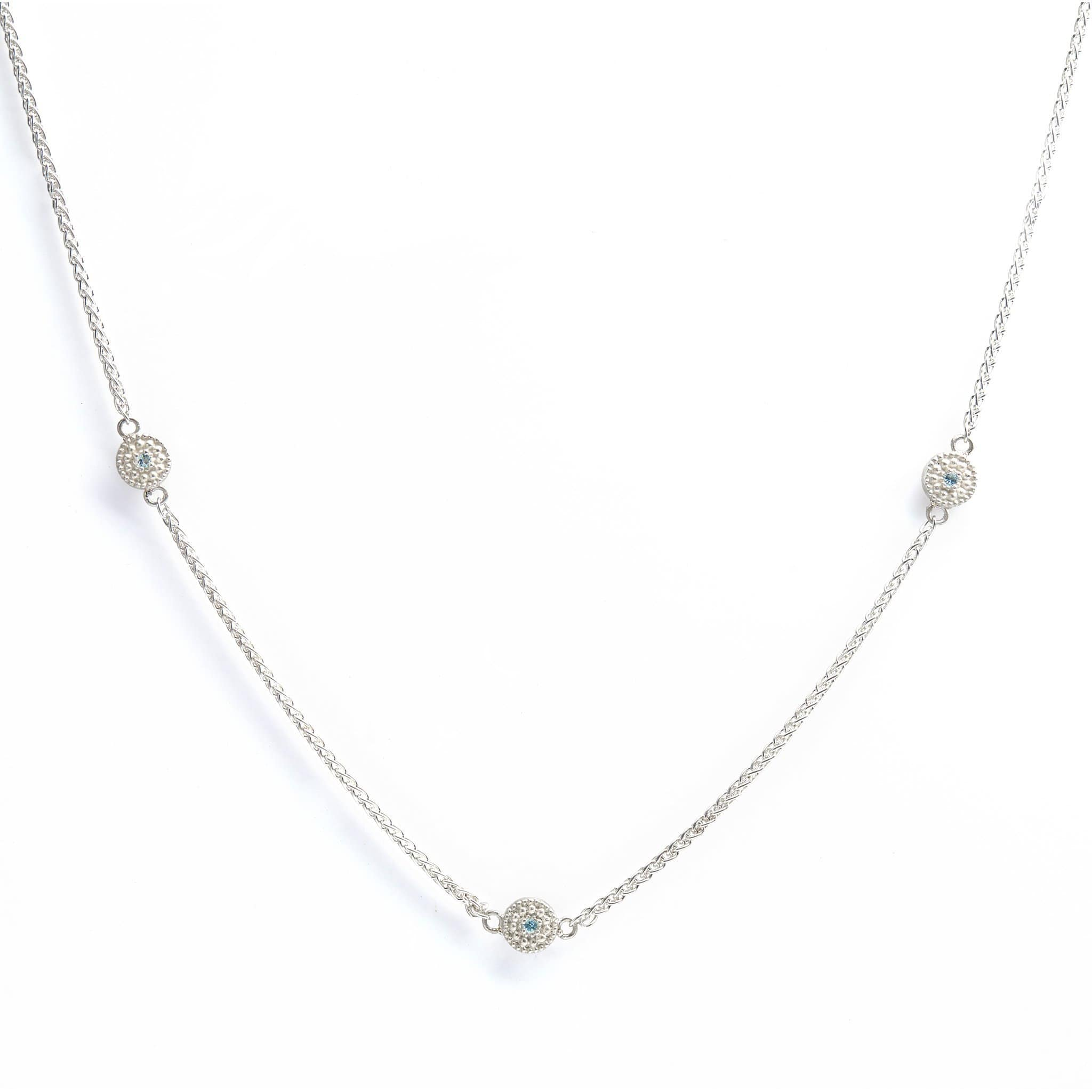 The Reverso Trio Necklace - Diamonds and Sapphires