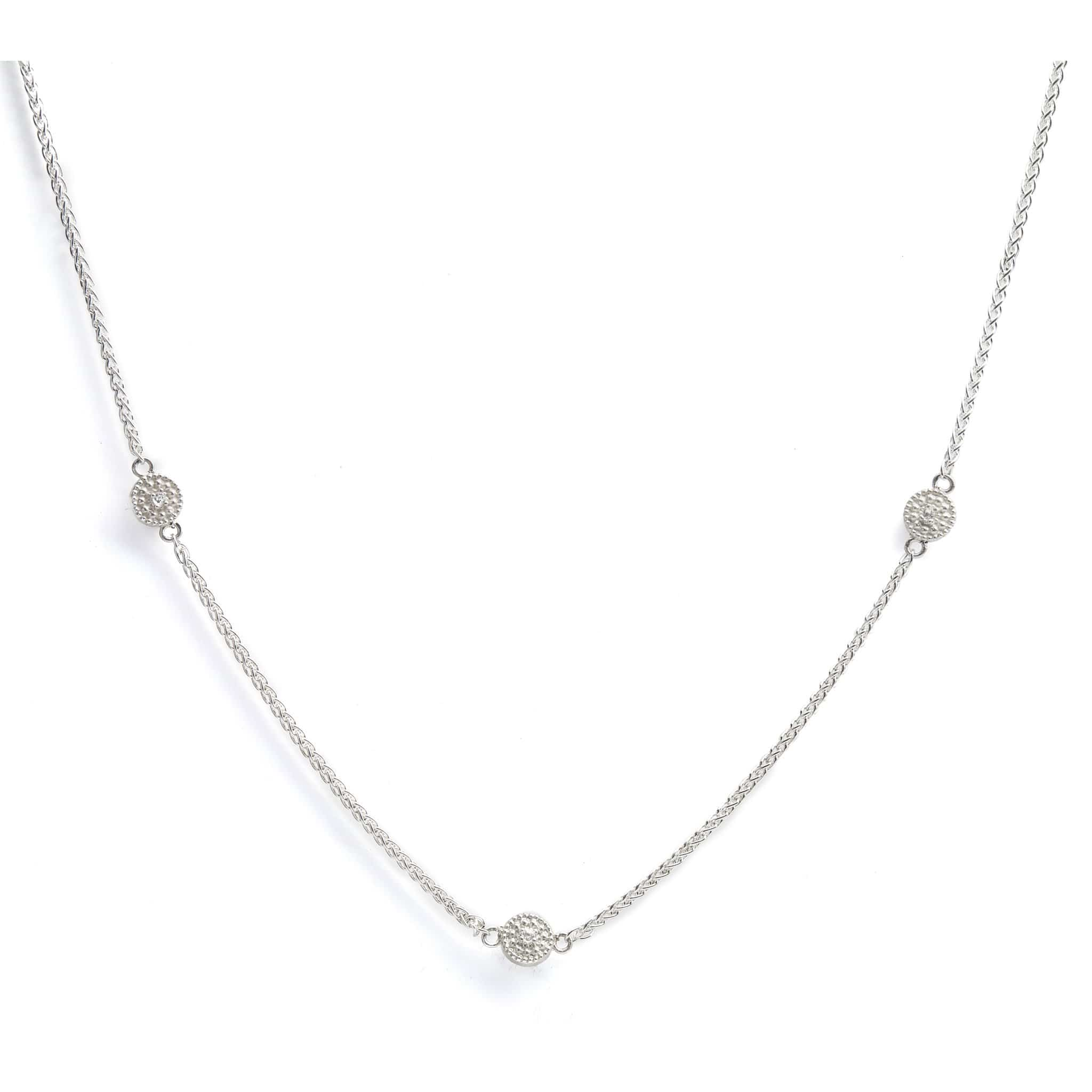 The Reverso Trio Necklace with Crystal Quartz and Aquamarines
