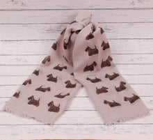 Load image into Gallery viewer, Scottish Terrier scarf hand printed in the UK