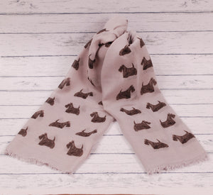 Scottish Terrier scarf hand printed in the UK