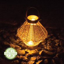 Load image into Gallery viewer, Wire Mesh Candle Lantern With Leather Effect Handle