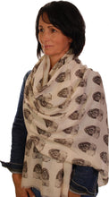 Load image into Gallery viewer, Shih Tzu Scarf - Mike Sibley Shih Tzu Design Ladies Fashion Scarf - Hand Printed In The UK
