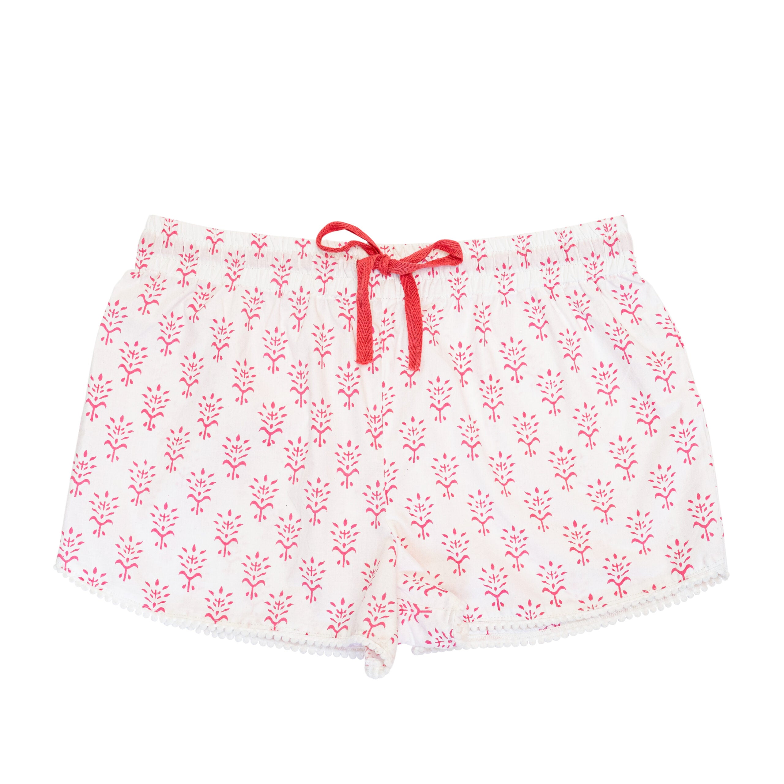 Hot Pink Booti Print Sleep Shorts