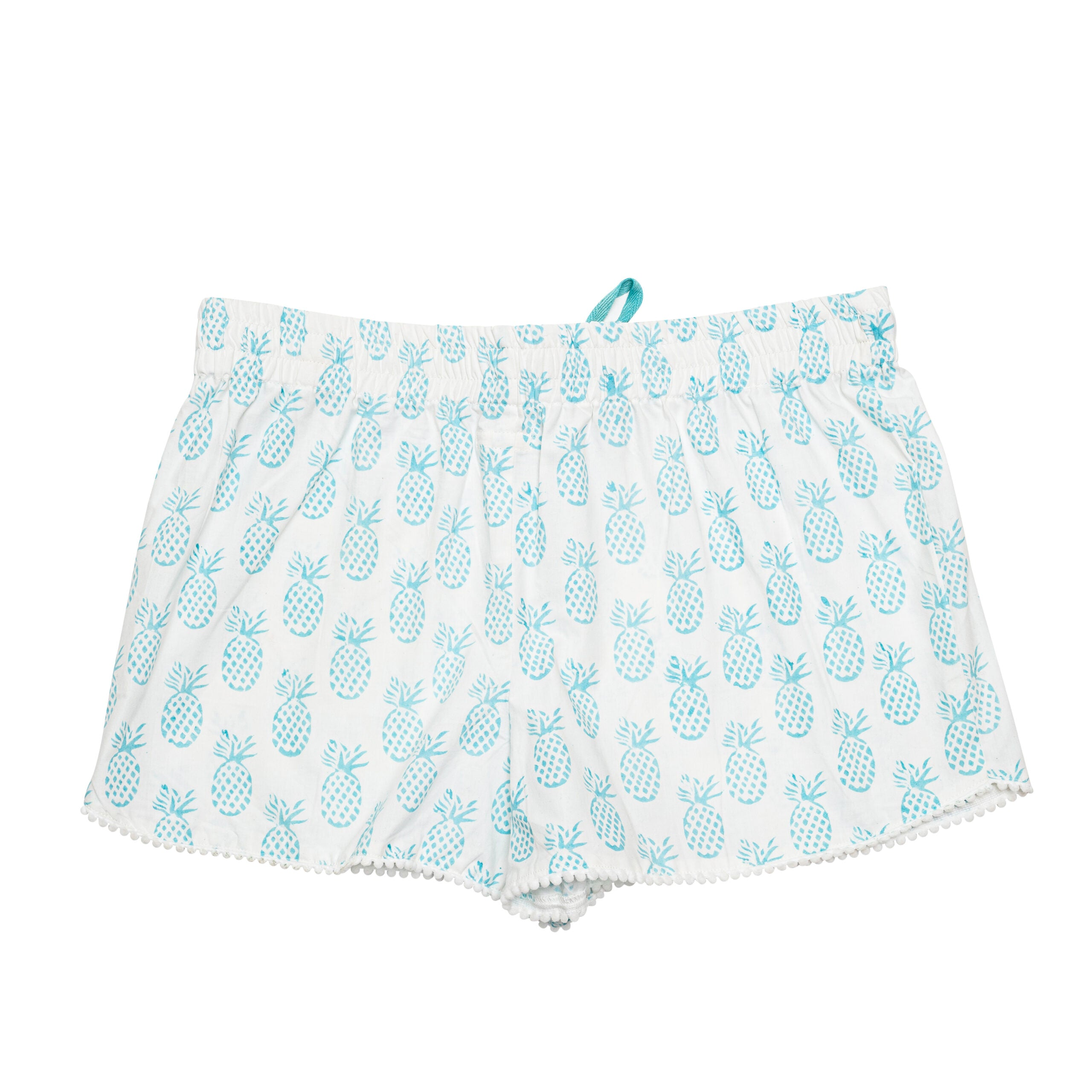 Blue Pineapple Bed Shorts
