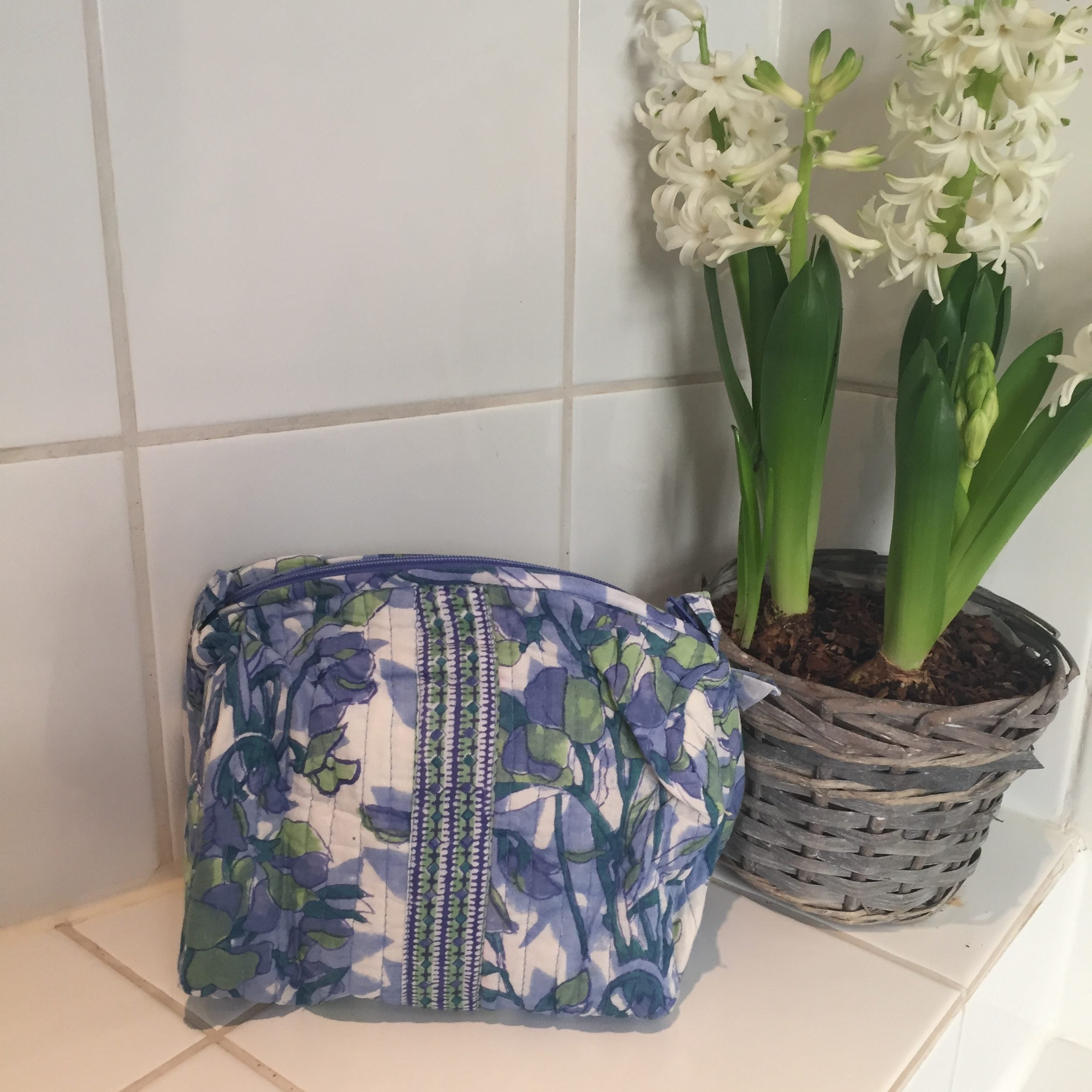 Quilted Wash Bags, Large