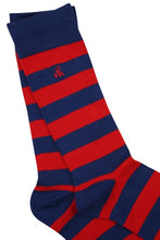 Load image into Gallery viewer, Classic Red Striped Bamboo Socks