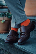 Load image into Gallery viewer, Tangerine Orange Bamboo Socks
