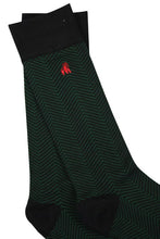 Load image into Gallery viewer, Chevron Green Bamboo Socks