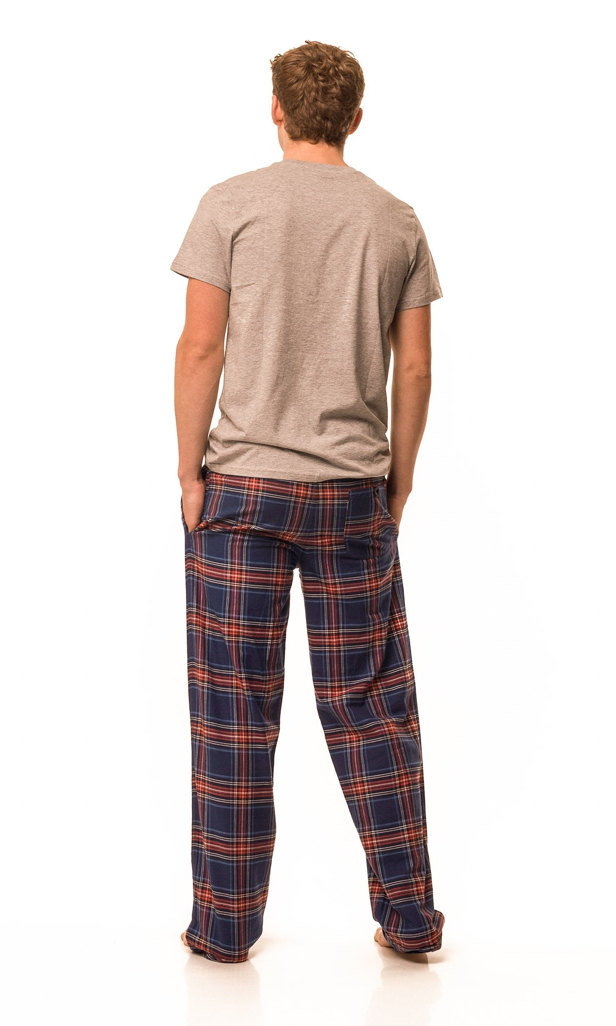 Frensham Blue/red check lounge pants - Men's