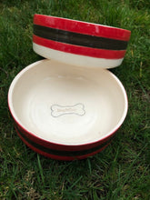 Load image into Gallery viewer, Reg&Bob handmade glazed dog bowls
