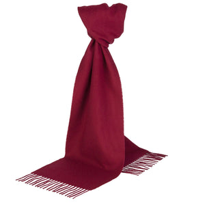 Extra Wide Burgundy Cashmere Scarf