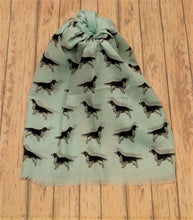 Load image into Gallery viewer, Welsh Springer Spaniel scarf hand printed in the UK