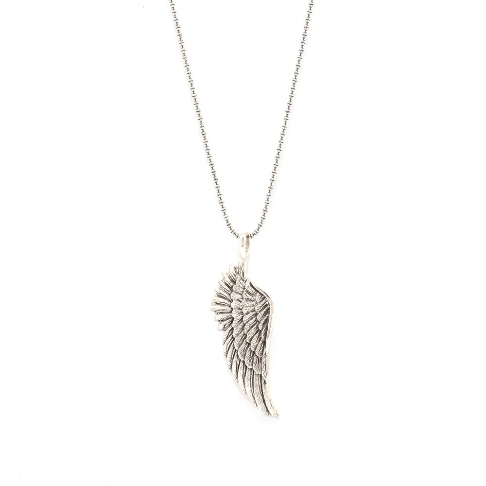 Large Angel Wing Long Necklace