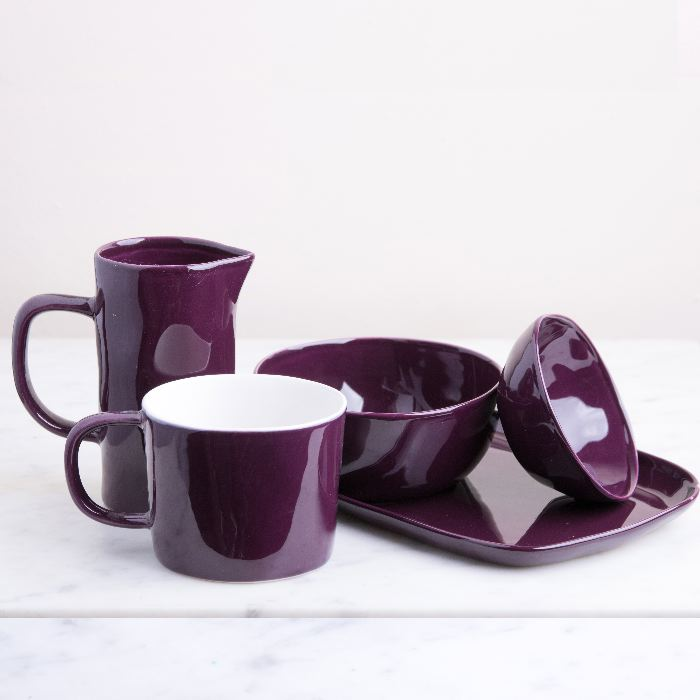 Small Aubergine Ceramic Jug