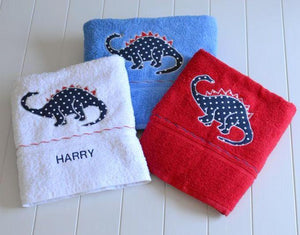 Red Towels with Motifs