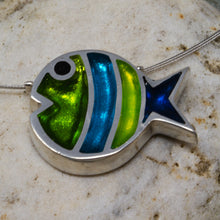 Load image into Gallery viewer, Bubble Fish Pendant - Seaweed