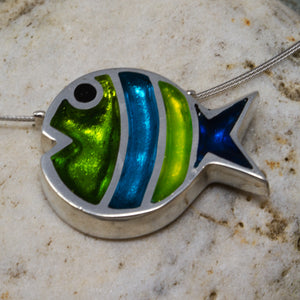 Bubble Fish Pendant - Seaweed