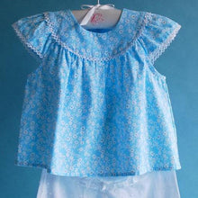 Load image into Gallery viewer, Blue Daisy Baby Top