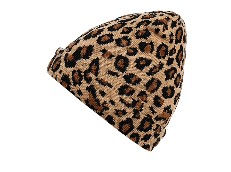 Brown Leopard Teen Hat