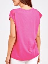 Load image into Gallery viewer, Cerise Cap Sleeve T Shirt
