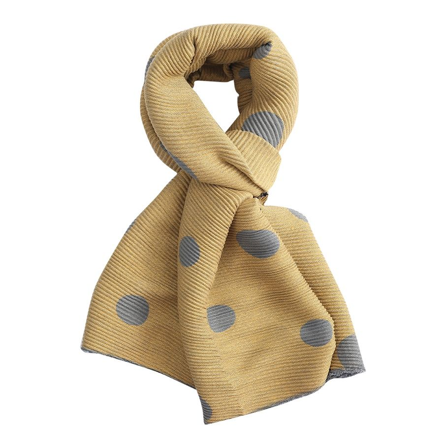 Pleated Big Dots Scarf 3040