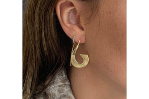 Minerva Gold Pull Through Earrings