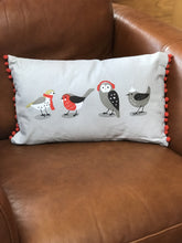 Load image into Gallery viewer, RSPB Winter Birds Cushion