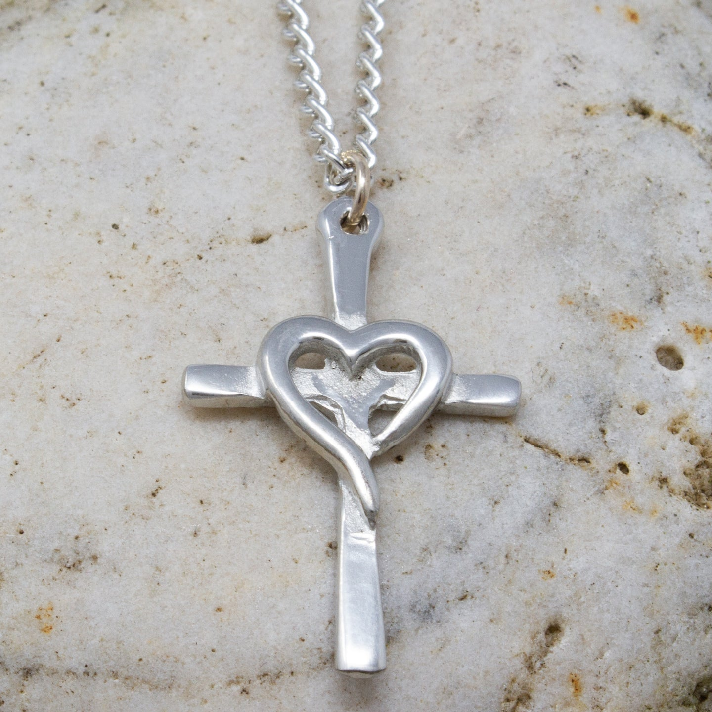 Heart Cross Pendant