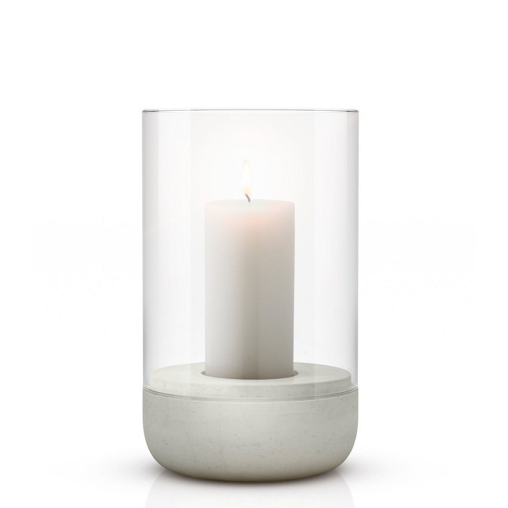 Concrete & Glass Candle Holder