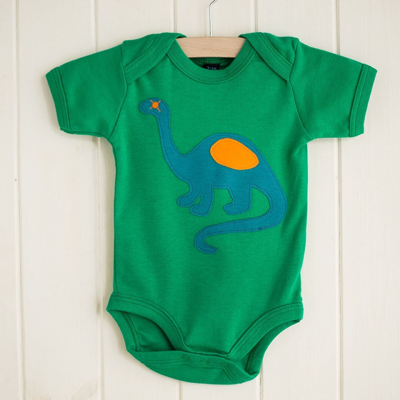 Baby Dinosaur - Short Sleeved Applique Bodysuit
