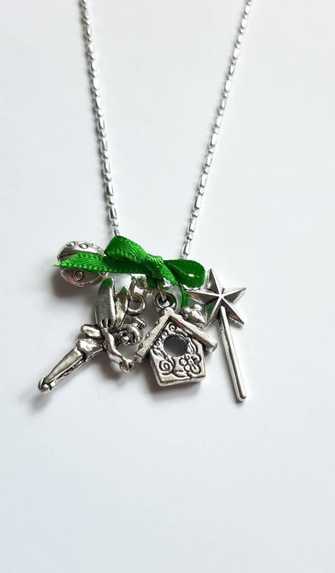 Tinkerbell Themed Charmed Necklace