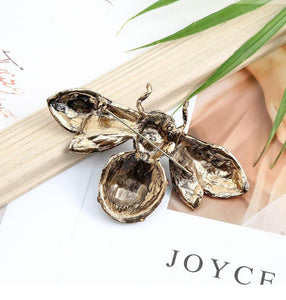 Green Crystal Bee Brooch