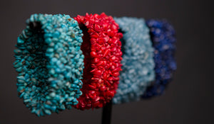 Knitted Turquoise Bracelet