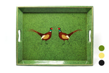 Load image into Gallery viewer, Medium Supper Tray, Pair of Pheasants, various colours