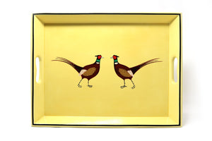 Medium Supper Tray, Pair of Pheasants, various colours