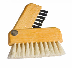 Redecker Laptop brush - goathair and horsehair, 7.7cm long folded up