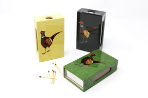 Large Pheasant Matchbox Covers